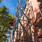 90 Tonnen Stahl sichern Fassade - Kaserne Basel (CH)