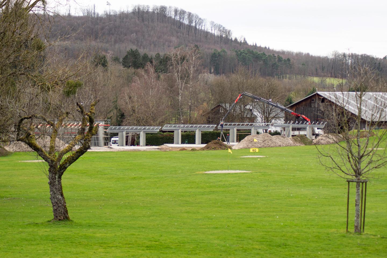 Neue Driving Range auf dem Golfplatz in Kandern.